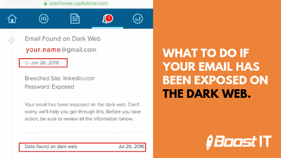Boost IT | What To Do If Your Email Has Been Exposed on the Dark Web